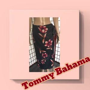 Tommy Bahama 100% Silk Gorgeous Wrap Skirt